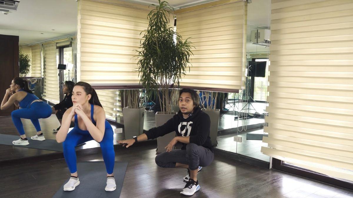 Bea Alonzo fitness journey 2021: squats