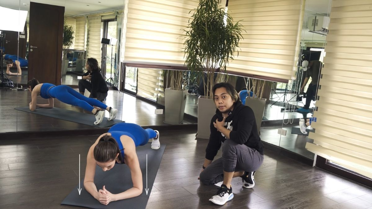 Bea Alonzo fitness journey 2021: plank