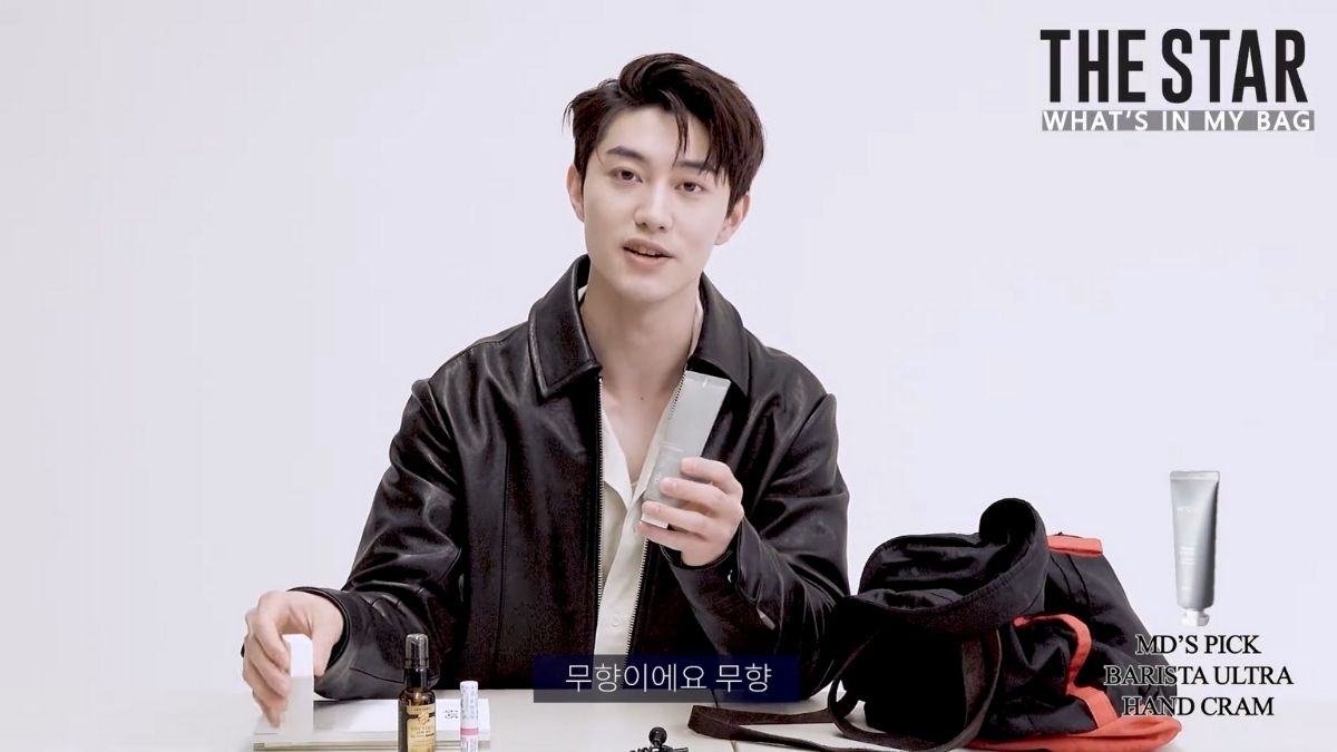 Kwak Dong Yeon shares what's inside his bag