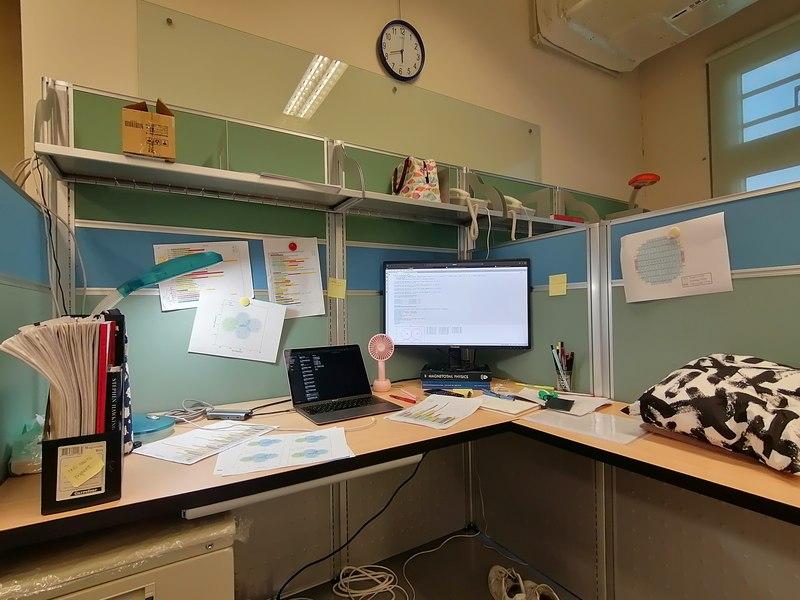 Astronomer Marielle Eduardo's work area