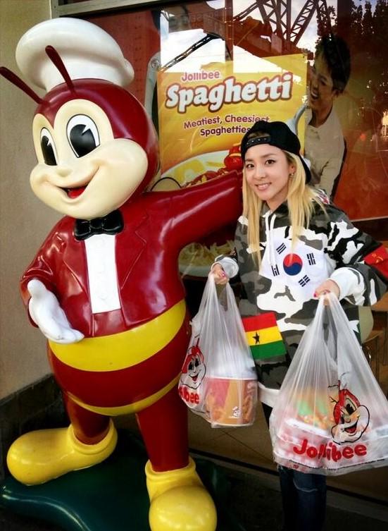Korean celebs who've talked about Filipino food: Sandara Park