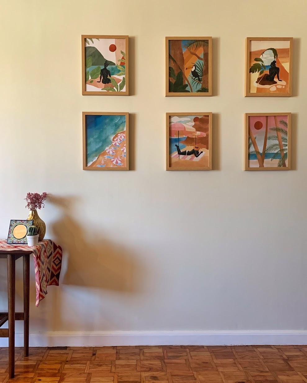 boho-inspired home makeover: artwork