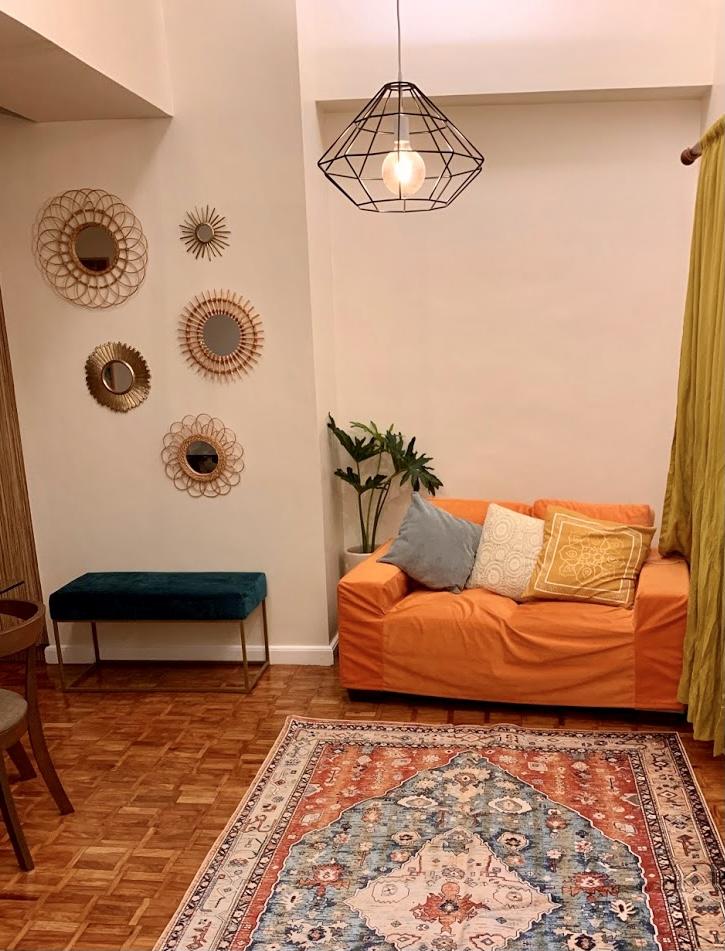 boho-inspired home makeover: living room area