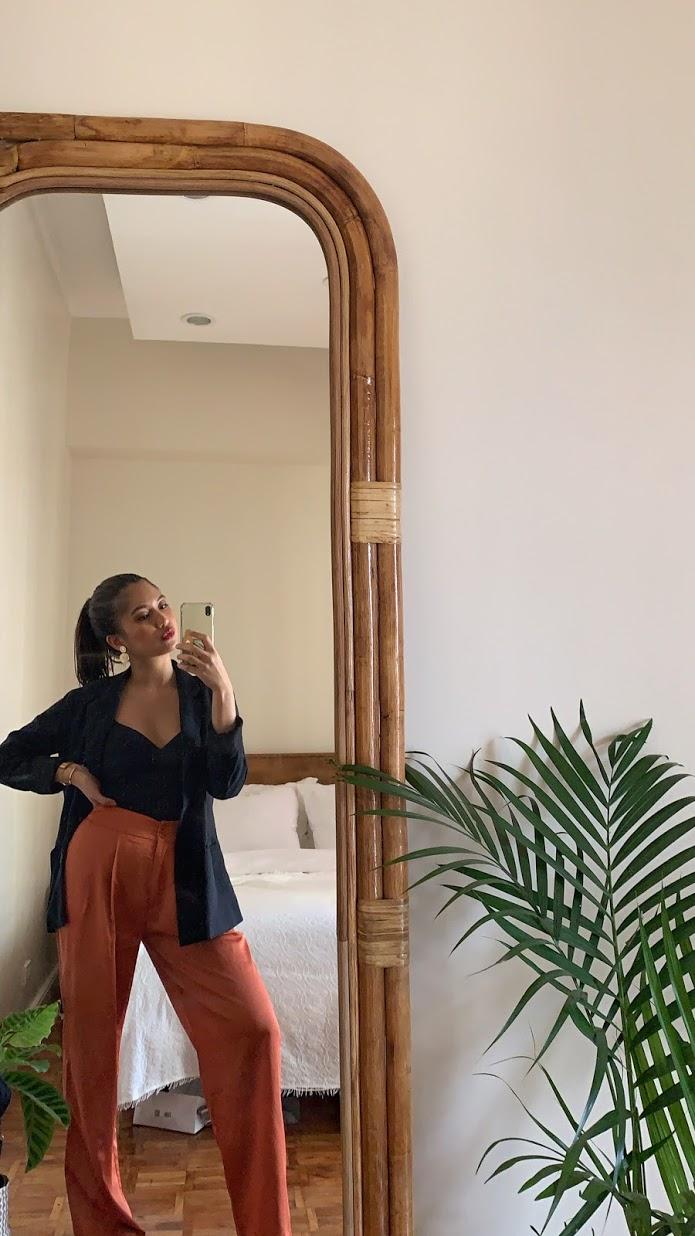 boho-inspired home makeover: full body mirror