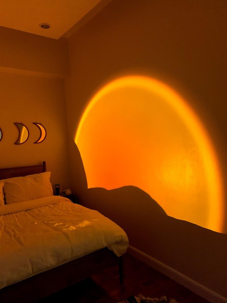 boho-inspired home makeover: sunset lamp