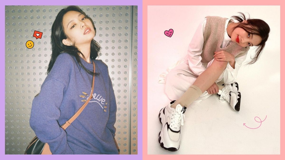 korean outfit idea: blackpink jennie, red velvet joy