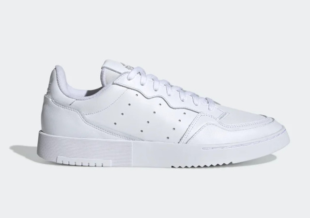 Best white sneakers: Adidas Supercourt Shoes in Cloud White