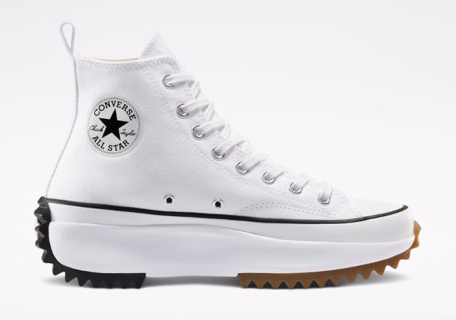 Best white sneakers: Converse Run Star Hike Canvas Platform