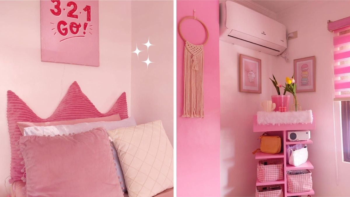 All-pink bedroom
