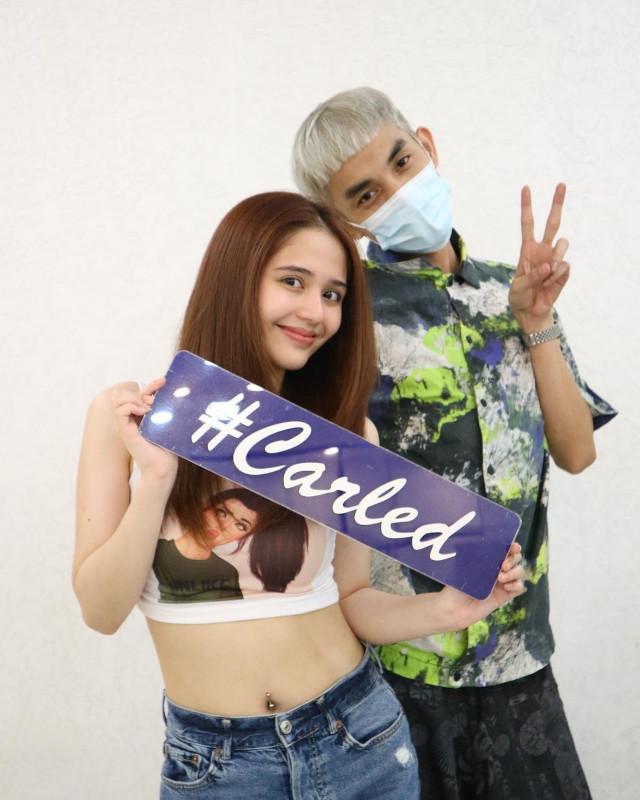 Jayda Avanzado with Carl of Hairshaft Salon