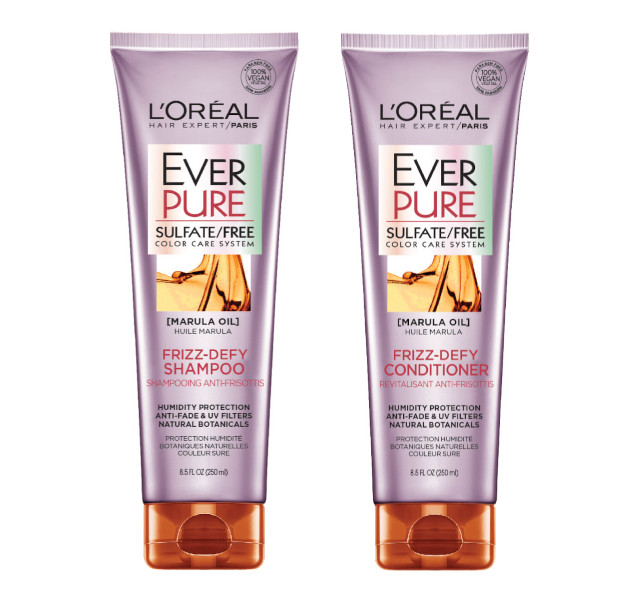 L'Oreal Paris Ever Pure Frizz-Defy Sulfate Free Hair Color Shampoo and Conditioner