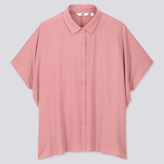 Uniqlo Rayon Short Sleeve Blouse