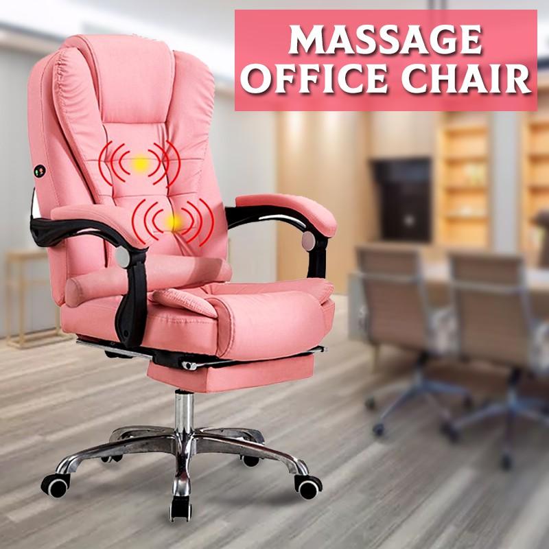 pink ergonomic office chair