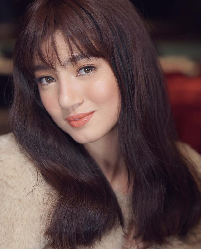 Belle Mariano with long hair and wispy bangs hairstyle