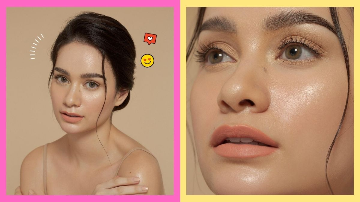 Hannah Arnold tries the glowing no-makeup look.
