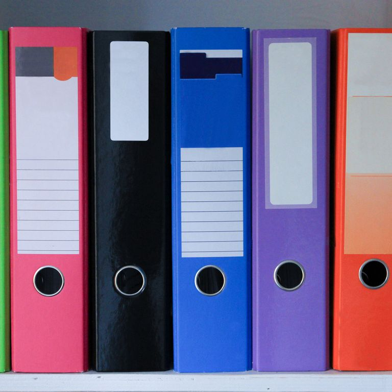 professional home organizing tips - binders