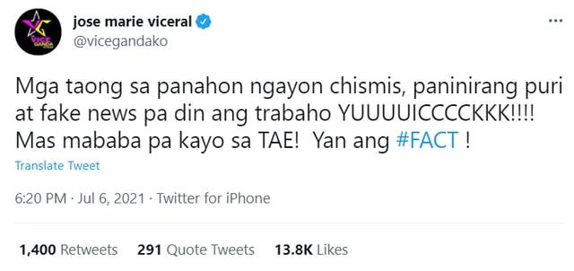 vice ganda twitter response