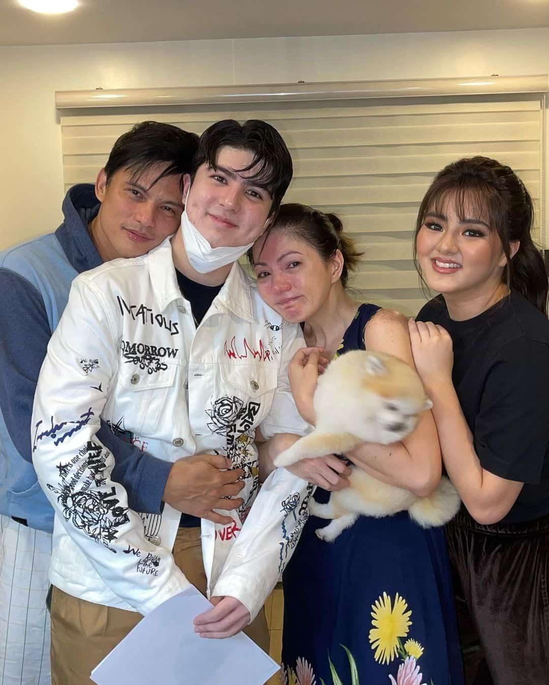 Carmina Villarroel, Zoren Legaspi and Cassy Legaspi send Mavy Legaspi off for lock-in taping