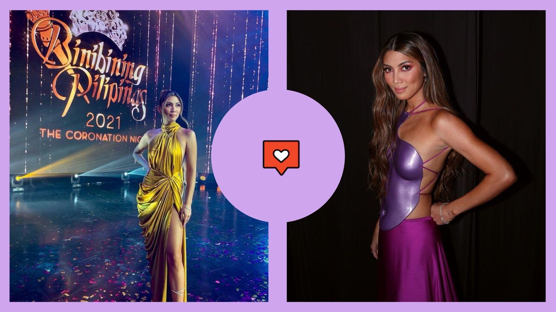Nicole Cordoves' looks during the Binibining Pilipinas 2021 Coronation Night