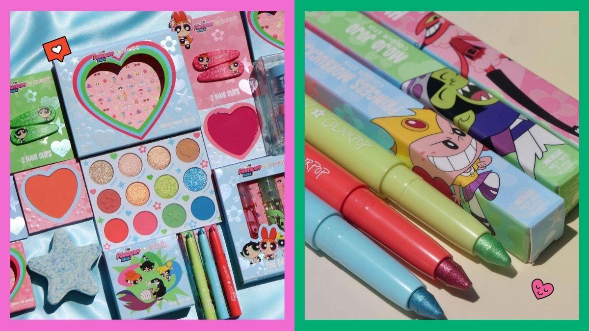 colourpop x powerpuff girls makeup collection
