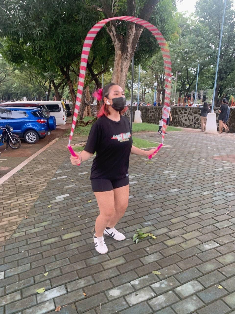 Pinay jumping rope