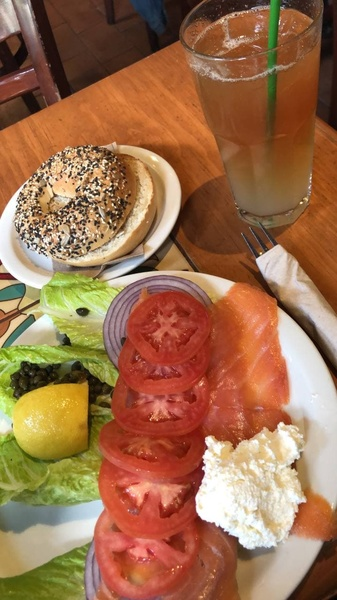 My Perfect Food Day: bagels + salmon + cream cheese
