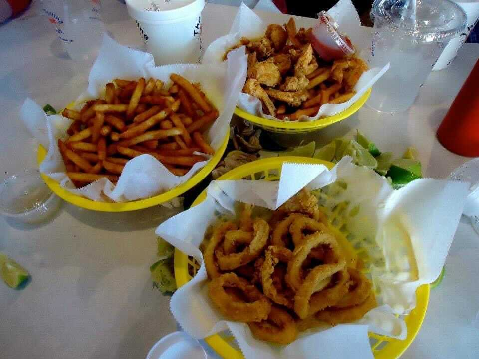 My Perfect Food Day: cajun fries, chicken popcorn, calamari