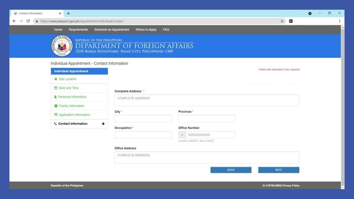 passport online renewal - website