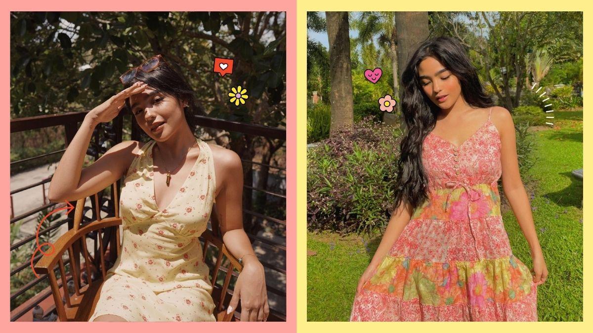 Andrea Brillantes wearing mini floral dresses