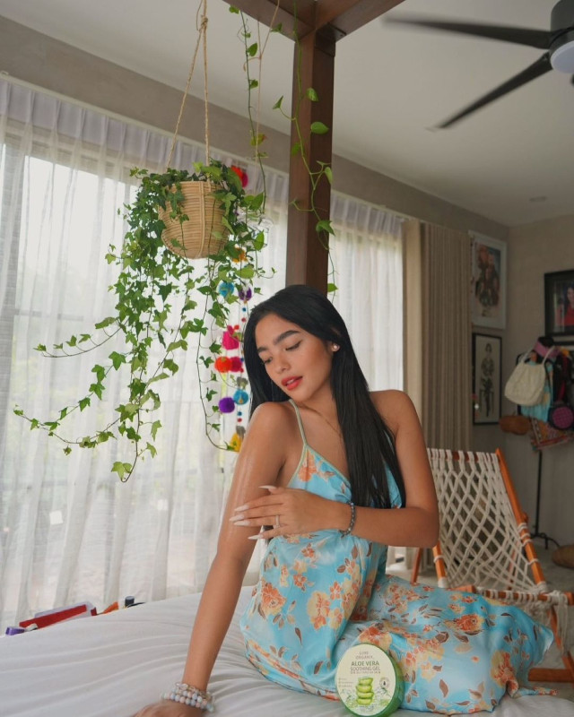 Andrea Brillantes wearing a floral dress