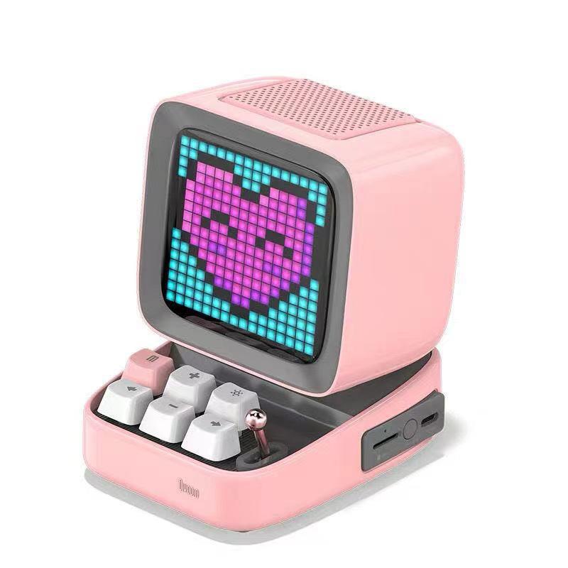 Divoom Ditoo Pixel Display Bluetooth Speaker in pink
