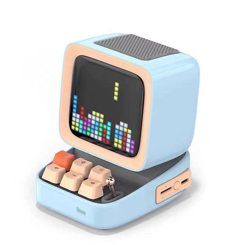 Divoom Ditoo Pixel Display Bluetooth Speaker in sky blue