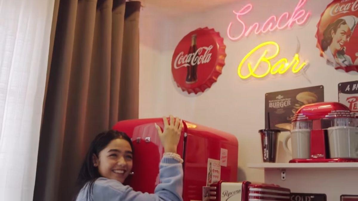 ANDREA BRILLANTES room makeover - snack bar