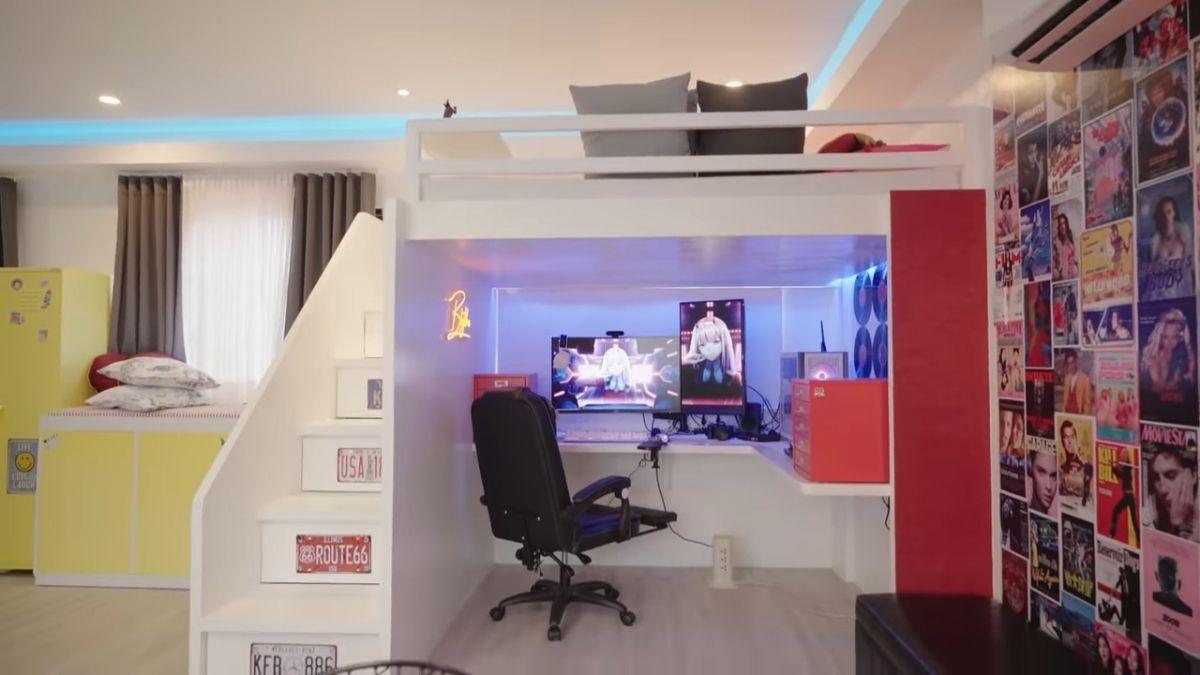 ANDREA BRILLANTES room makeover - gaming area in bedroom