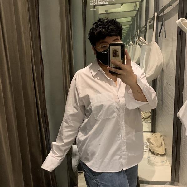 coleen dalde plus-size fashion: oversized button-up