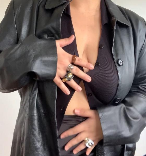 coleen dalde plus-size fashion: leather jacket