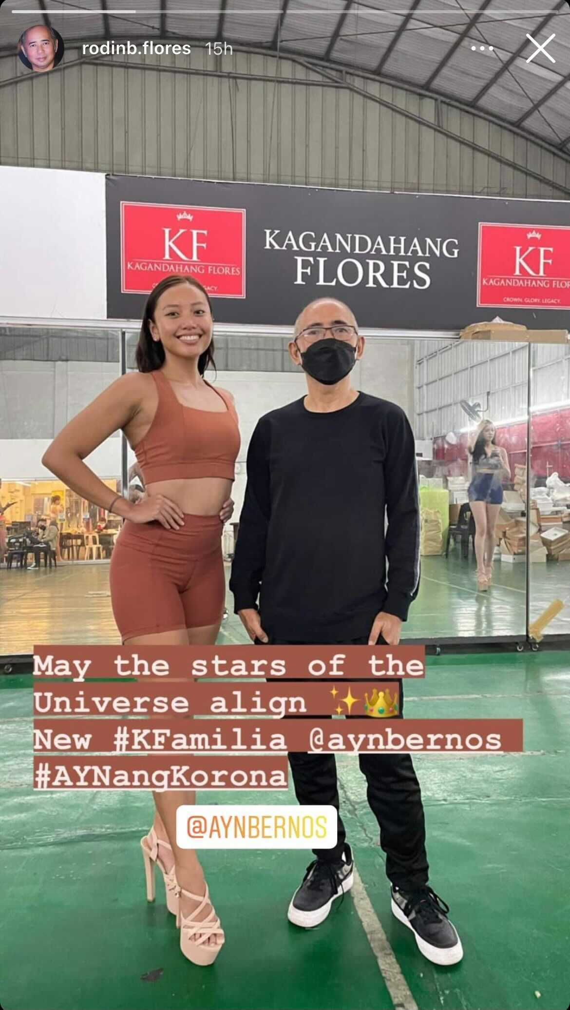 Ayn Bernos starts training with Kagandahang Flores