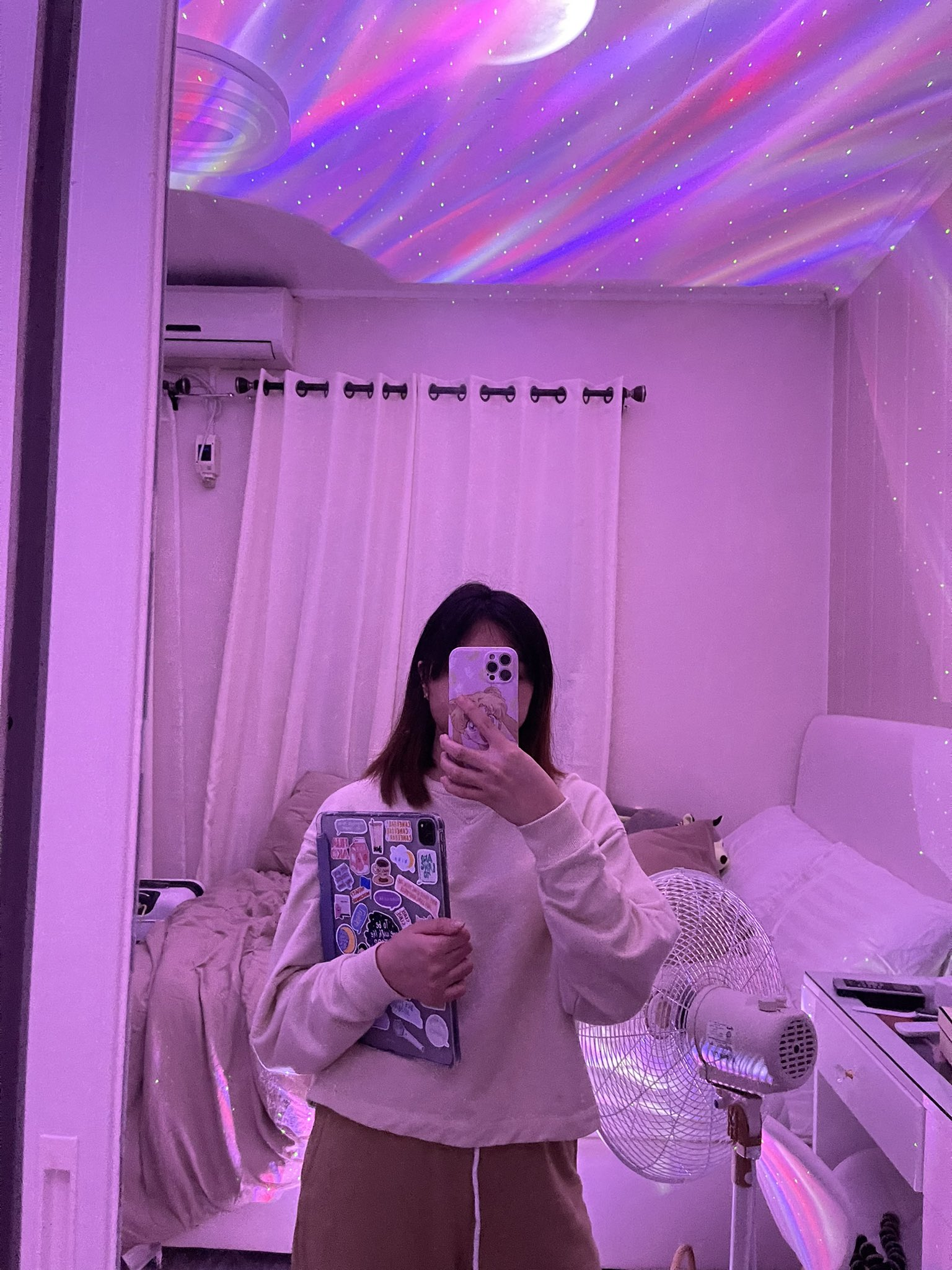 night light galaxy projector in pinay's bedroom