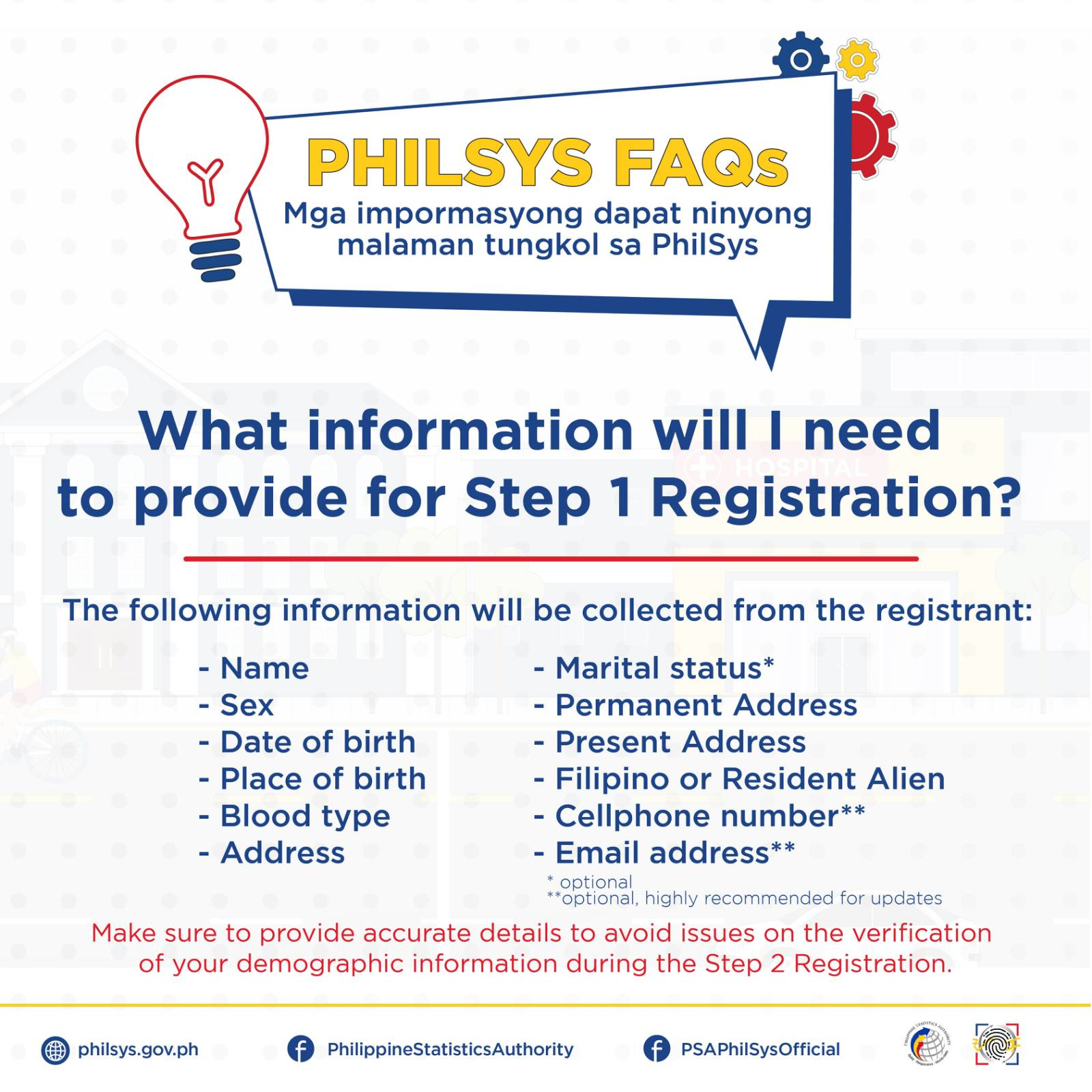 National ID registration - information required for step one