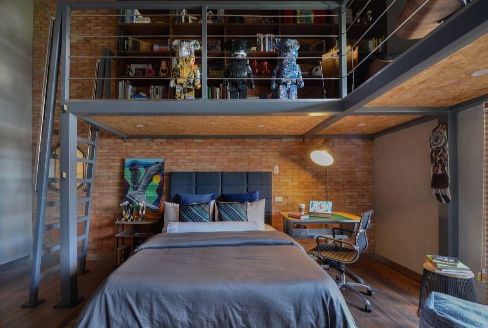 bedroom wall design ideas; loft