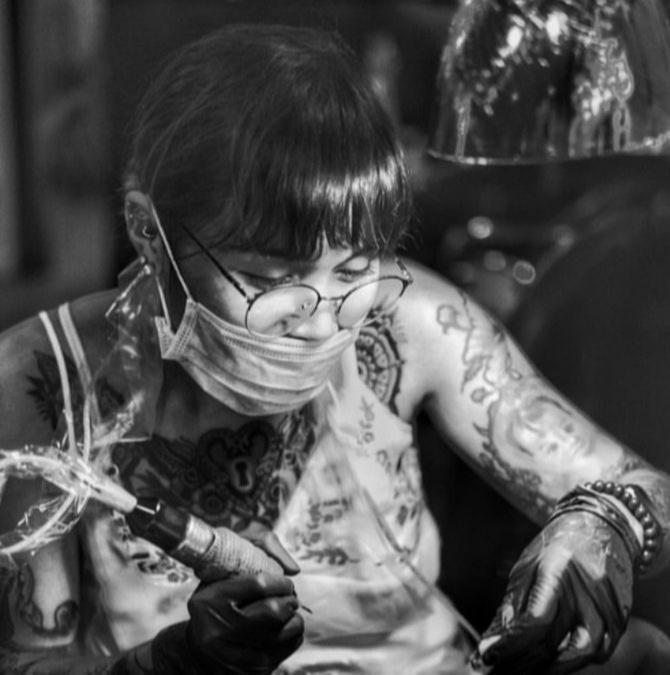 tattoo artist Annie Concepcion