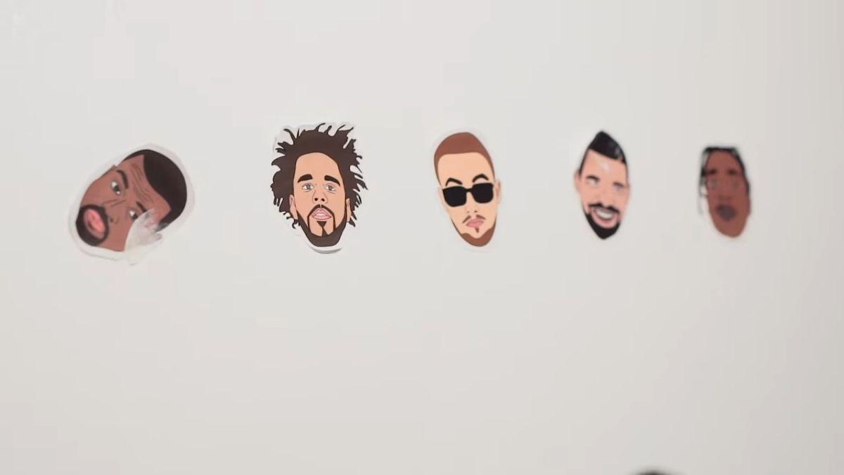 LORIN GUTIERREZ - room tour, stickers on wall