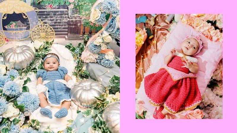 Zeinab Harake's baby Bia dressed up as Disney princesses
