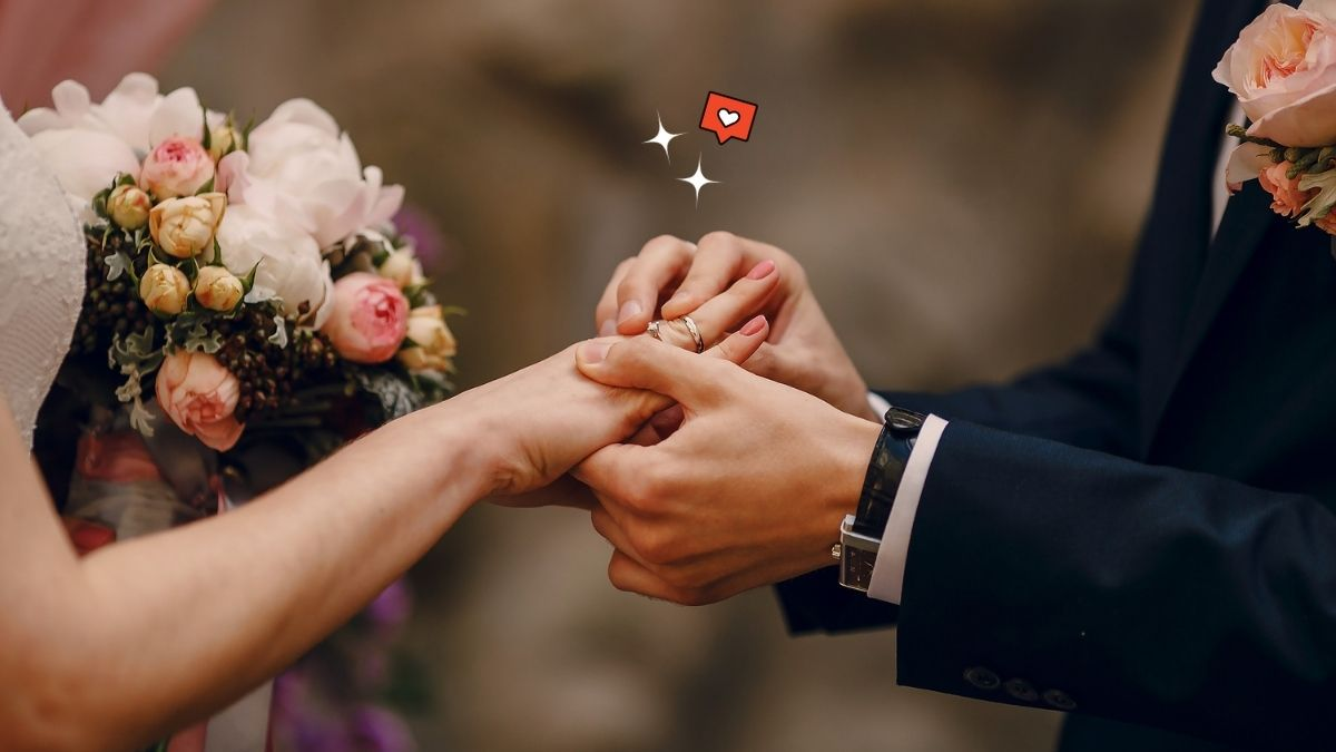man and woman getting married, wedding ceremony