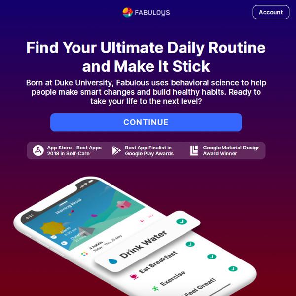 Fabulous app review