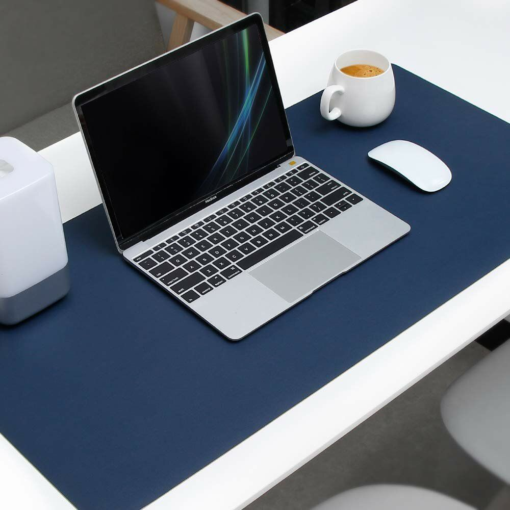 desk mat in navy blue
