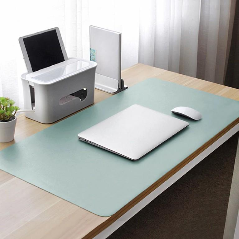 desk mat in light blue