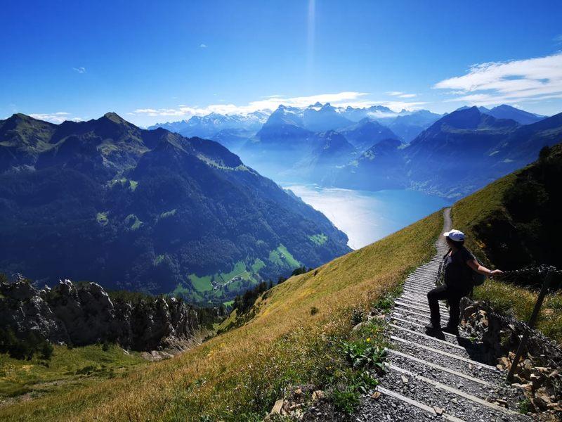 Pinay scientist Remika Gupana hiking in Stoos, Switzerland