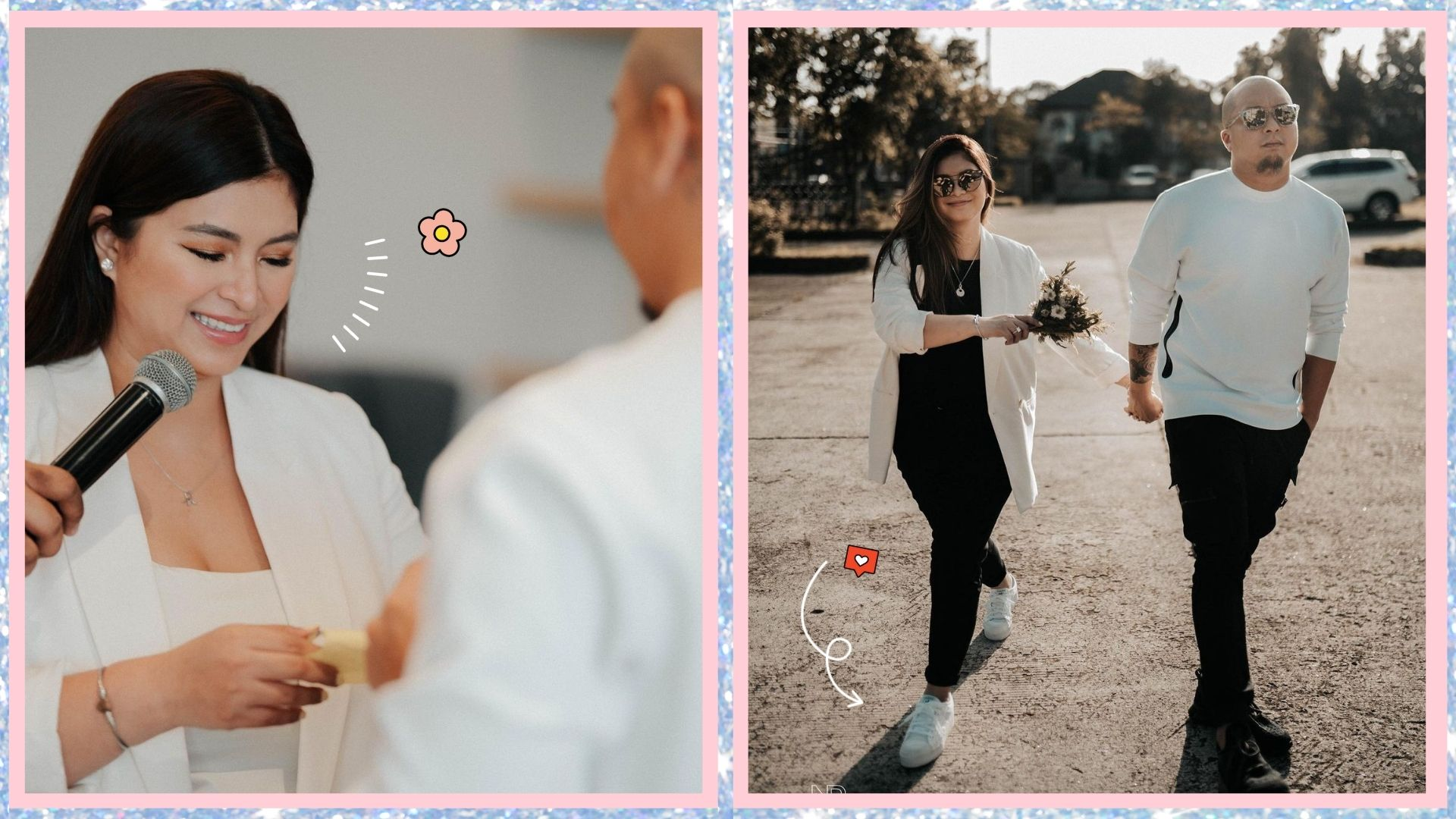 We love Angel Locsin's low-key bridal look