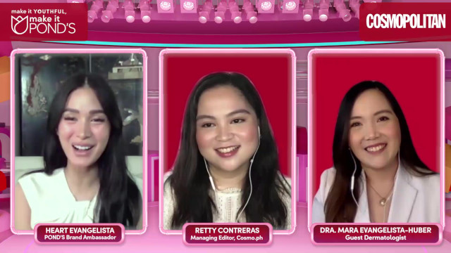 Pond's PinkLab Anti-Aging Coaching Session with Heart Evangelista, Cosmopolitan Managing Editor Retty Contreras, and Dr. Mara Evangelista-Huber